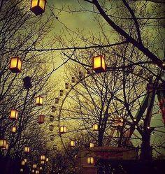 a fairy land of lanterns