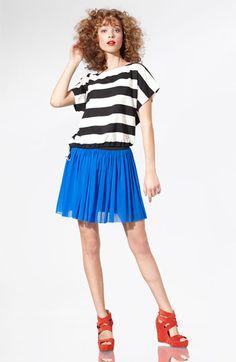 Vince Camuto Mesh Skirt with Elastic Waistband