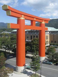 Heian Shrine Torii Gate - Kyoto    Largest Torii gate in Japan