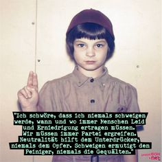 SpiegelDich  Das Zitat stammt von Elie Wiesel, einem US-amerikanischen Hochschullehrer und Publizisten. Als Überlebender des Holocausts verfasste er zahlreiche Romane und sonstige Publikationen zu diesem Thema und erhielt 1986 den Friedensnobelpreis für seine Vorbildfunktion im Kampf gegen Gewalt, Unterdrückung und Rassismus…