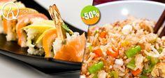 Nicksan en Nuevo Vallarta - $177 en lugar de $355 por 1 Rollo Especial del Menú + 1 Yakimeshi de Verduras +  1 Copa de Vino de la Casa ó 1 Limonada. Click: CupoCity.com