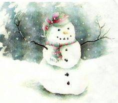 Snowman! Needed a break in heat, August!!!!