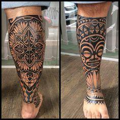 maori tattoos information Polynesian Leg Tattoo, Filipino Tribal Tattoos, Polynesian Tattoo Designs, Maori Tattoo Designs, Samoan Tattoo, Back Of Leg Tattoos, Best Leg Tattoos, Body Art Tattoos, Hand Tattoos