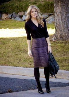 PolishedandPink: Fall Work Look - Office Outfits Winter Office Outfit, Winter Skirt Outfit, Office Outfits, Casual Outfits, Business Professional Outfits, Business Dresses, Business Outfits, Business Attire, Business Fashion