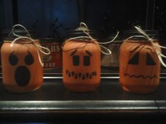 easy crafts dIY halloween jars, can put battery op candle inside