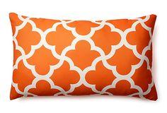 Mirrored 14x24 Outdoor Pillow, Orange on OneKingsLane.com