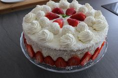 Sallys Blog - Erdbeer-Kokos-Torte