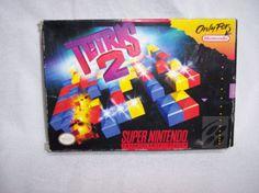 Tetris 2  SNES Super Nintendo 1994 Used Game Rare Hard to Find