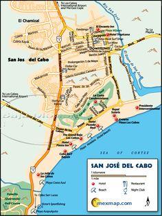 San Jose del Cabo, Mexico | Cabos Baja Map - Los Cabos Baja Mexico Maps (Los Cabos Baja, Mexico ...