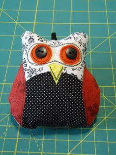 Owl Patchwork Ornament