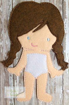 Felt Un Paper Marie Doll by NettiesNeedlesToo on Etsy, $6.00