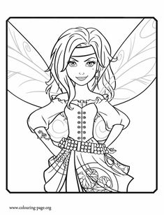 Meet Zarina! She is a curious fairy and Tinker Bell's friend. Have fun with this coloring page from the upcoming Disney movie The Pirate Fairy!