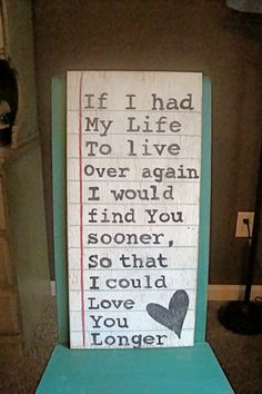 I want this!!!    Wood Sign Made to look like Paper with Quote  by RusticBarndecor, $45.00