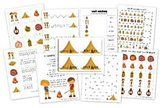 FREE Camping Educational Printable Pack for Kids!