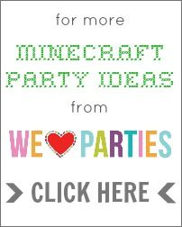 Minecraft Party Ideas from We Heart Parties
