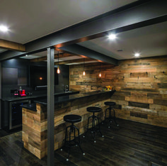 7 Great Basement Ceiling Ideas to Consider in Your Remodel Building A Basement, Man Cave Basement, Rustic Basement, Basement House, Basement Walls, Basement Flooring, Kitchen Flooring, Basement Insulation, Basement Furniture