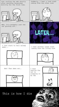 Every Time After Watching A Horror Movie - Posted in Funny, Troll comics and LOL Images - LOL Heaven