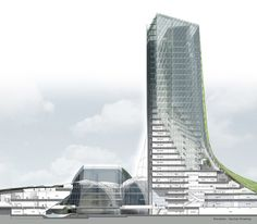 KEPCO Headquarters Competition proposal by H Associates / City near Naju, South Korea