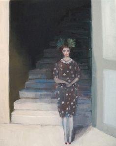 "Kristin Vestgard, ""Slightly"", oil 30 x 24cm, £1300. Has now SOLD. http://www.cornwallcontemporary.com/exhibition/kristin-vestgard/"