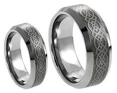Men & Ladies 8MM/6MM Tungsten Carbide Wedding Band Ring Set w/Laser Etched Celtic Design tungsten jeweler http://www.amazon.com/dp/B013H1QIO0/ref=cm_sw_r_pi_dp_.Yqzwb06VVYFV