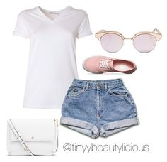 Untitled #390 by tinyybeautylicious on Polyvore featuring polyvore, fashion, style, T By Alexander Wang, Vans, Tory Burch, Le Specs and clothing