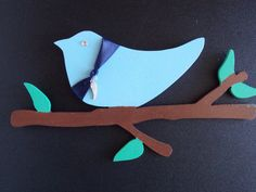 Bird On A Branch Wall Decoration with Wing by MumkenzGiftShop