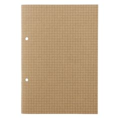 Muji's Pre-Punched A5 Grid Notebook. These are perfect for Midori TN once cut down in width.