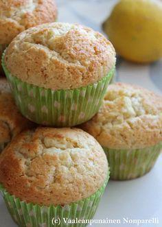 9–12 kpl Ainekset 125 g voita 2 dl sokeria 2 munaa 3 ½ dl vehnäjauhoja 2 tl vaniljasokeria 2 tl leivinjauhetta 1 dl mait...
