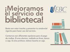 ¡Mejoramos el servicio de bibliotecas! Te invitamos a seguir usando este servicio :)