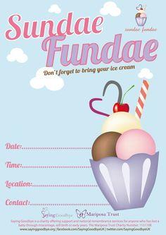 Hold a Sundae Fundae for Sayinggoodbye.org