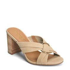 89e40123a70 Aerosoles Women s Highwater Medium Wide Block Heel Sandals (Bone Nubuck)