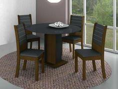 Conjunto de Mesa com 4 Cadeiras Turim - Madesa