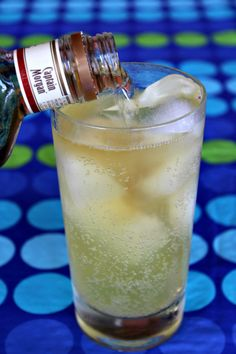 Coconut - Pineapple Sparkling ICE beverage + spiced rum (or coconut rum)