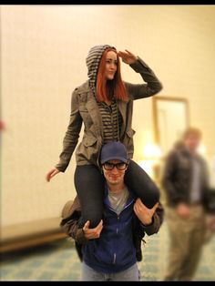 Natasha Romanov and Steve Rogers cosplay from the Winter Soldier