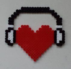 Week 26, Day 182, Musical, I Love Music. Perler 365 Day Bead Challenge.