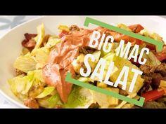 Big Mac Salat Rezept - Low Carb mit Bacon und selbstgemachter Soße