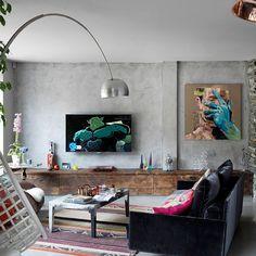 Edwardian-Haus aus rotem Backstein in London: The Woodlands Loft Estilo Industrial, Industrial Interior Design, Industrial House, Home Interior Design, Living Etc, My Living Room, Living Spaces, Living Area, Living Room Inspiration