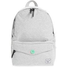 Women's Herschel Supply Co. 'sydney' Backpack ($33) ❤ liked on Polyvore featuring bags, backpacks, light grey crosshatch, light grey backpack, rucksack bags, day pack backpack, herschel supply co bag and herschel supply co backpack