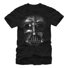 Star Wars Vader Pixel Mask T-Shirt