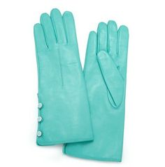 Tiffany & Co.   Item   Triple button gloves in Tiffany Blue?- nappa leather. More colors available.   United States