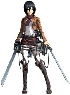 View an image titled 'Mikasa Ackerman Art' in our Attack on Titan: Wings of Freedom art gallery featuring official character designs, concept art, and promo pictures. Attack On Titan Game, Attack On Titan Jean, Attack On Titan Fanart, Eren And Mikasa, Armin, Freedom Art, Rivamika, Body Sketches, Eremika