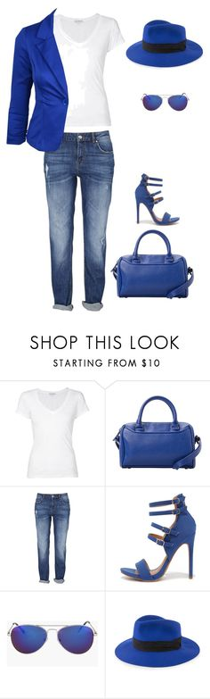 As Blue As The Ocean by mrs-rc on Polyvore featuring moda, James Perse, Shoe Republic LA, MANGO and Project 6