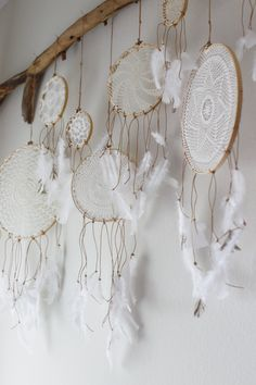DIY doily dream catcher moble