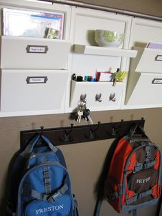 Perfect entryway organization! Daily System from Pottery Barn (White, Espresso, or Black)