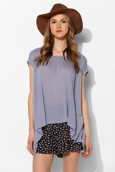 Pins And Needles Slubby Linen Trapeze Top #UrbanOutfitters