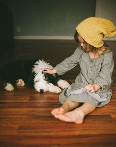 A girl, her hat, and her pooch.  <3