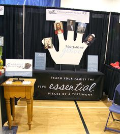 Five Essential Pieces of a Testimony. BYU Women's Conference sharing station display. Simple, but effective.