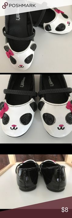 🐼NWNT🐼 Capelli  kids Panda flats Super cute flats. Never used, just played with by my daughter. She has wide feet. Padded, no skid shoe with a strap. Cute panda detail and fabric bow. These would look great with leggings, dress or a pair of jeans. No scratches or stains. Had in a smoke free home with 🐶. No trades , offers welcomes. Capelli of New York Shoes Dress Shoes