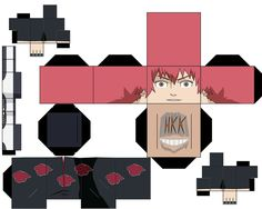 sasori by hollowkingking on DeviantArt Paper Flower Tutorial, Paper Flowers Diy, Diy Paper, Origami Naruto, Paper Doll Template, Anime Crafts, Bullet Journal School, Anime Figures, Paper Toys