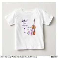 First Birthday Violin Ballet and Butterflies